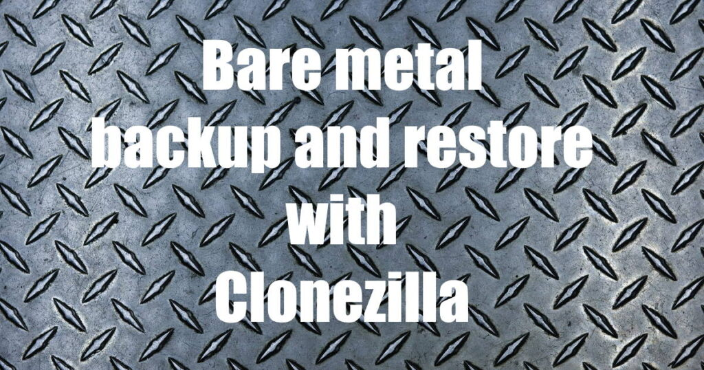 Bare metal with text